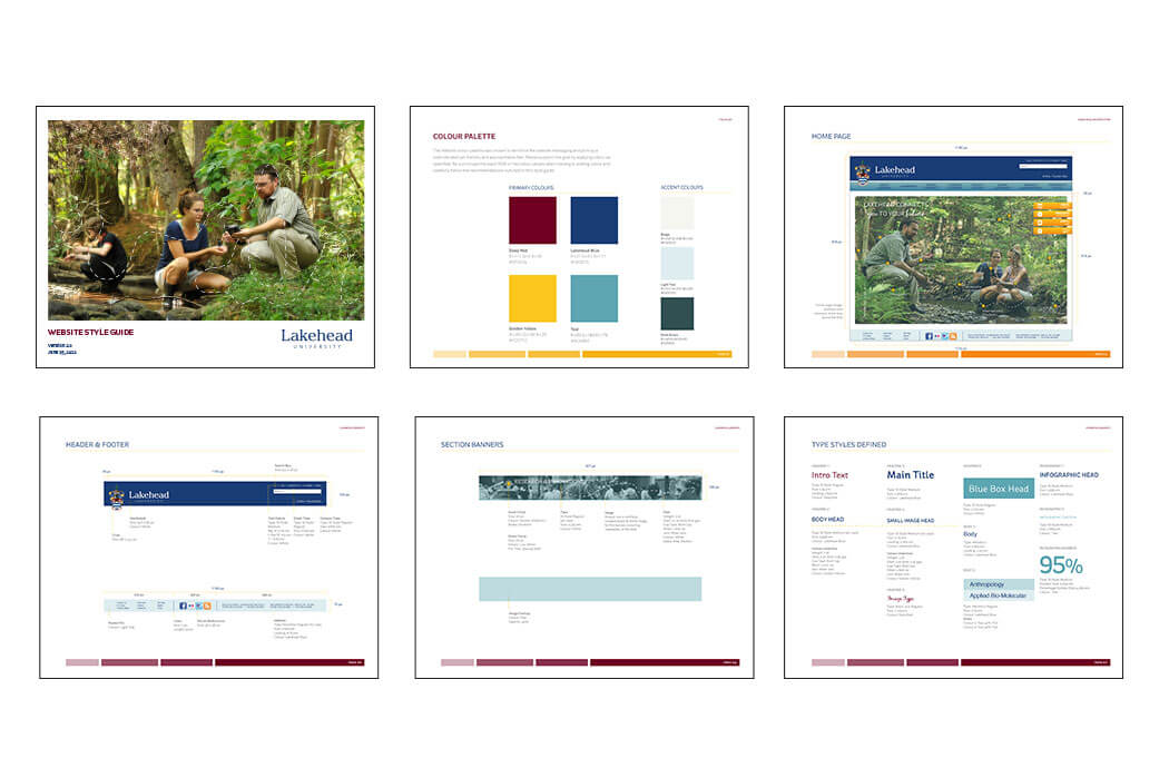 Lakehead University web style guide